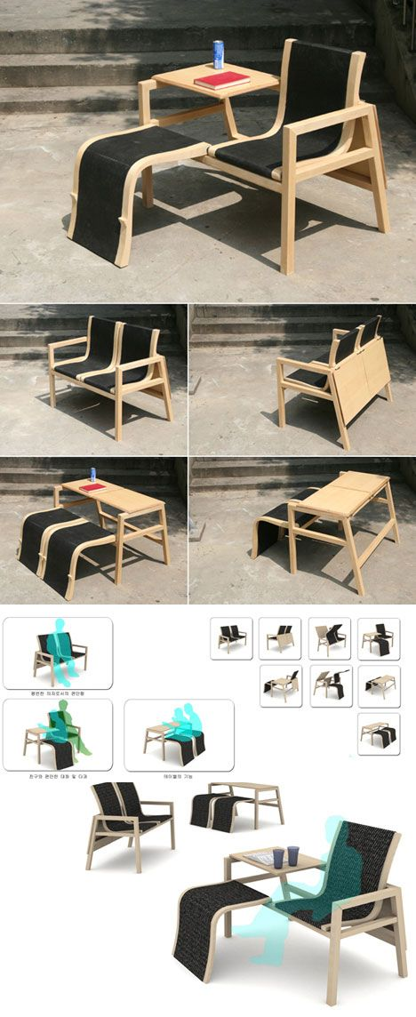 The Amazing Furniture Works Of Bae Se Hwa,   As You Want/Couple Chair Is A  Tidy, Clever Piece Of Multifunctional Furniture.