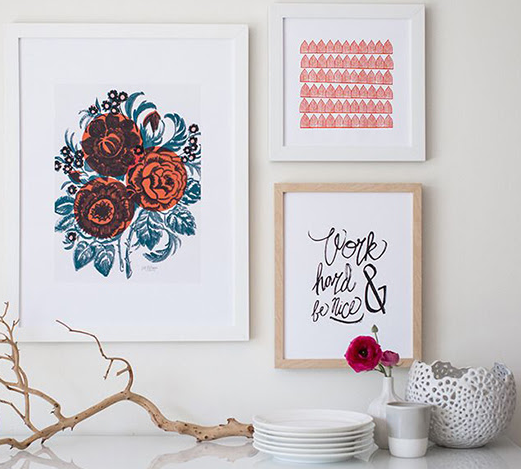 Create the perfect gallery wall for your home with Minted's selection of unique art prints.  Image courtesy of @Domino