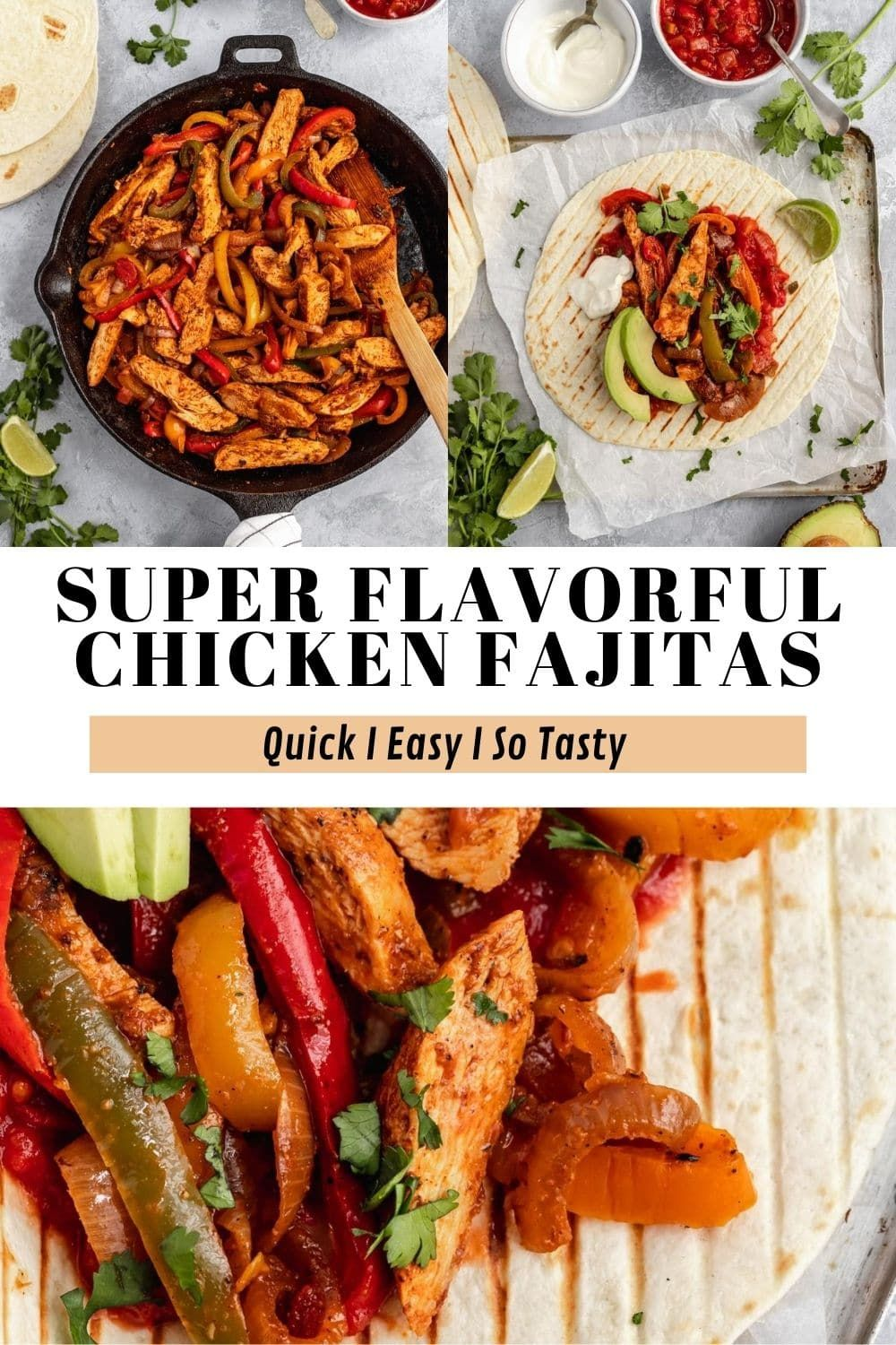 This Is Seriously The Best Chicken Fajitas Recipe It S Quick Easy And Soooo Flavorful These Chicken Fajitas Ar In 2020 Fajita Recipe Recipes Healthy Mexican Recipes