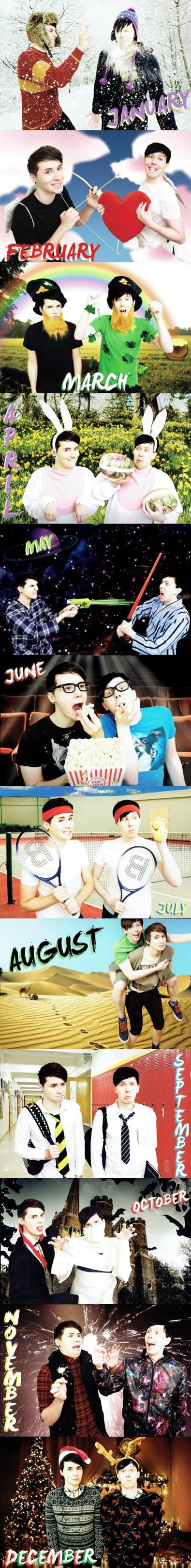 DAN AND PHIL 2015 CALENDAR ALL MONTHS I NEED THIS>>> They sell this but you have to buy it with pounds