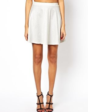 1f05f690a Club L Embossed Leather Look Skater Skirt - $22.58 | Clothing ...
