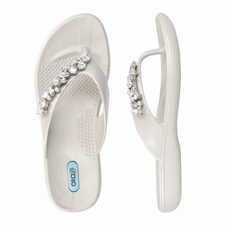 70034d5093df62 Oka-B Marley - Pearl Spa Flip Flops available at www.fabflipflops.co ...