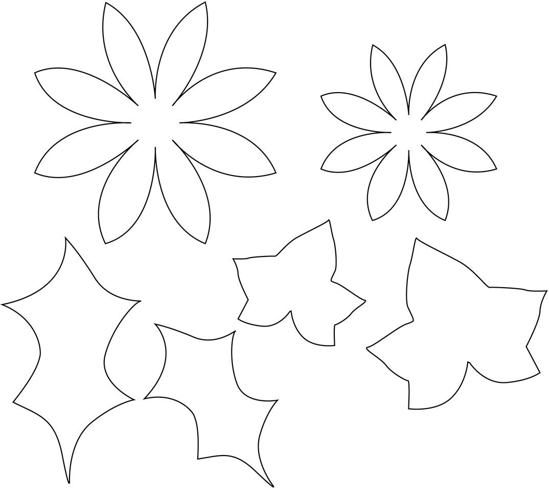 Printable Flower Pattern Use For Fabric Flowers For A Craft For