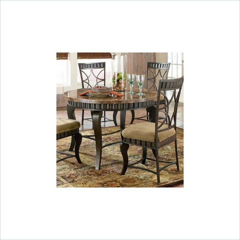 Steve Silver Company Hamlyn Marble Top Dining Table In Pewter Pleasing Hamlyn Dining Room Set Design Ideas
