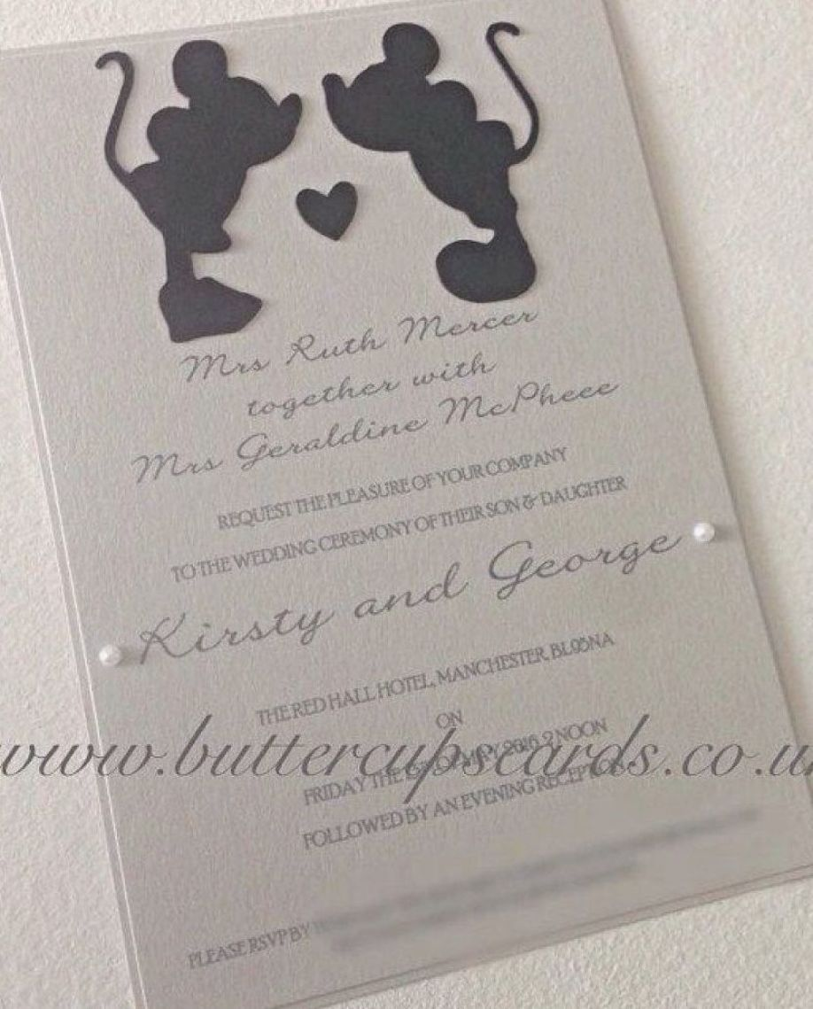 32 Awesome Picture Of Disney Themed Wedding Invitations Disney Wedding Invitations Trendy Wedding Invitations Disney Invitations