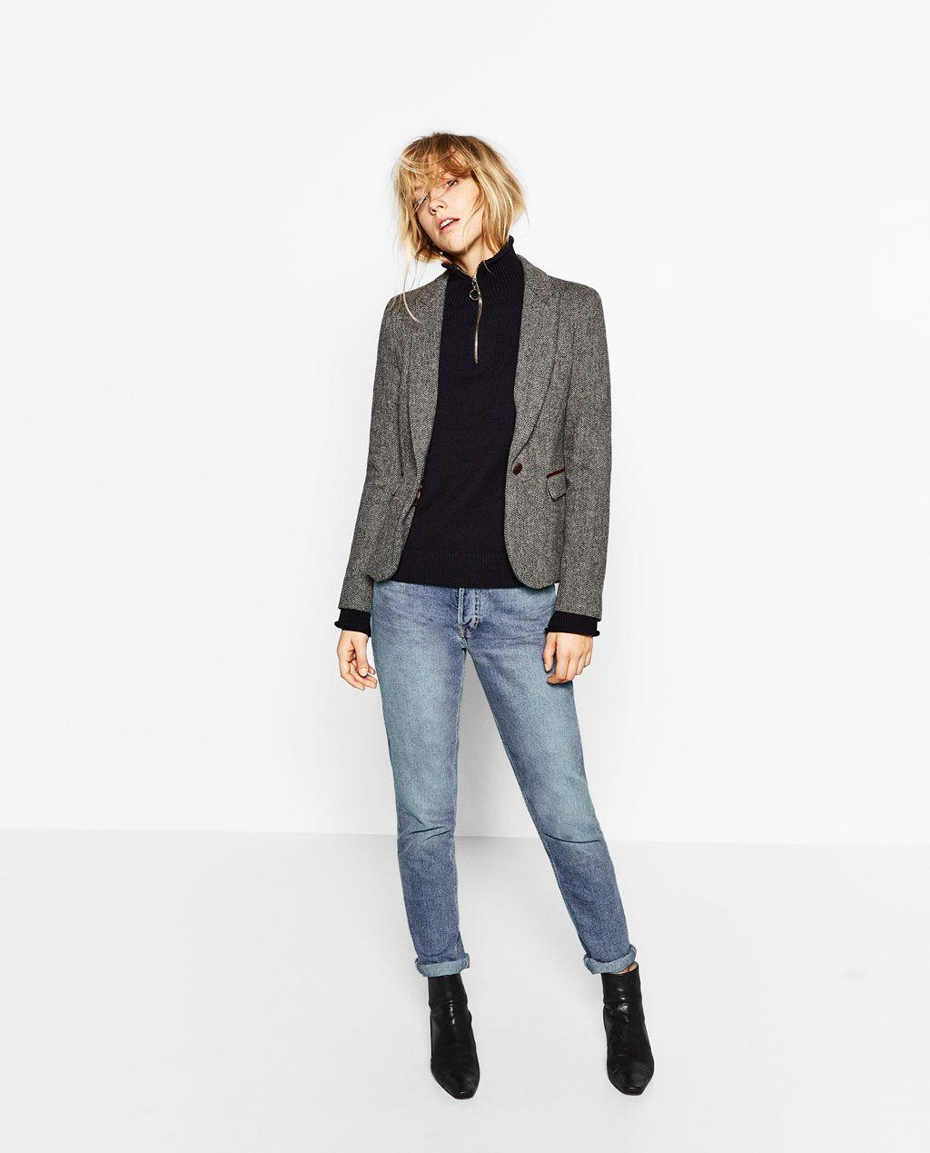 Reino Unido más de moda amplia selección de colores y diseños BLAZER ESPIGA CODERAS-BLAZERS-MUJER | ZARA Colombia | mi ...
