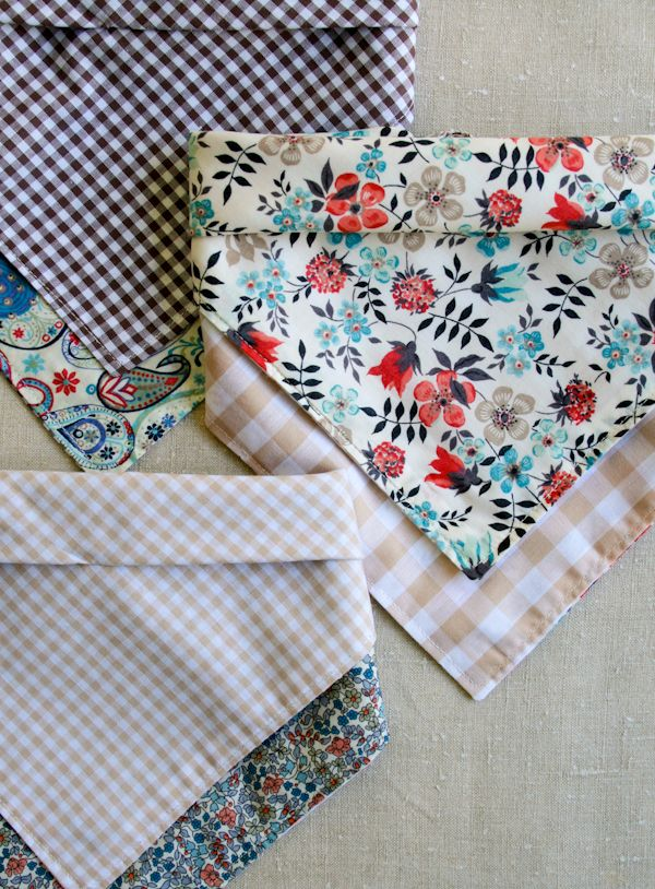 Molly\'s Sketchbook: Bandana Bibs - Knitting Crochet Sewing Crafts ...