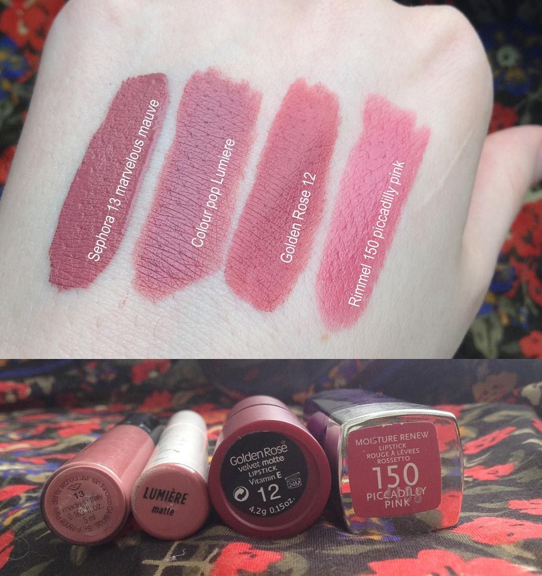 Marusionna Instragram Lipstick Swatches Sephora 13 Colour Pop