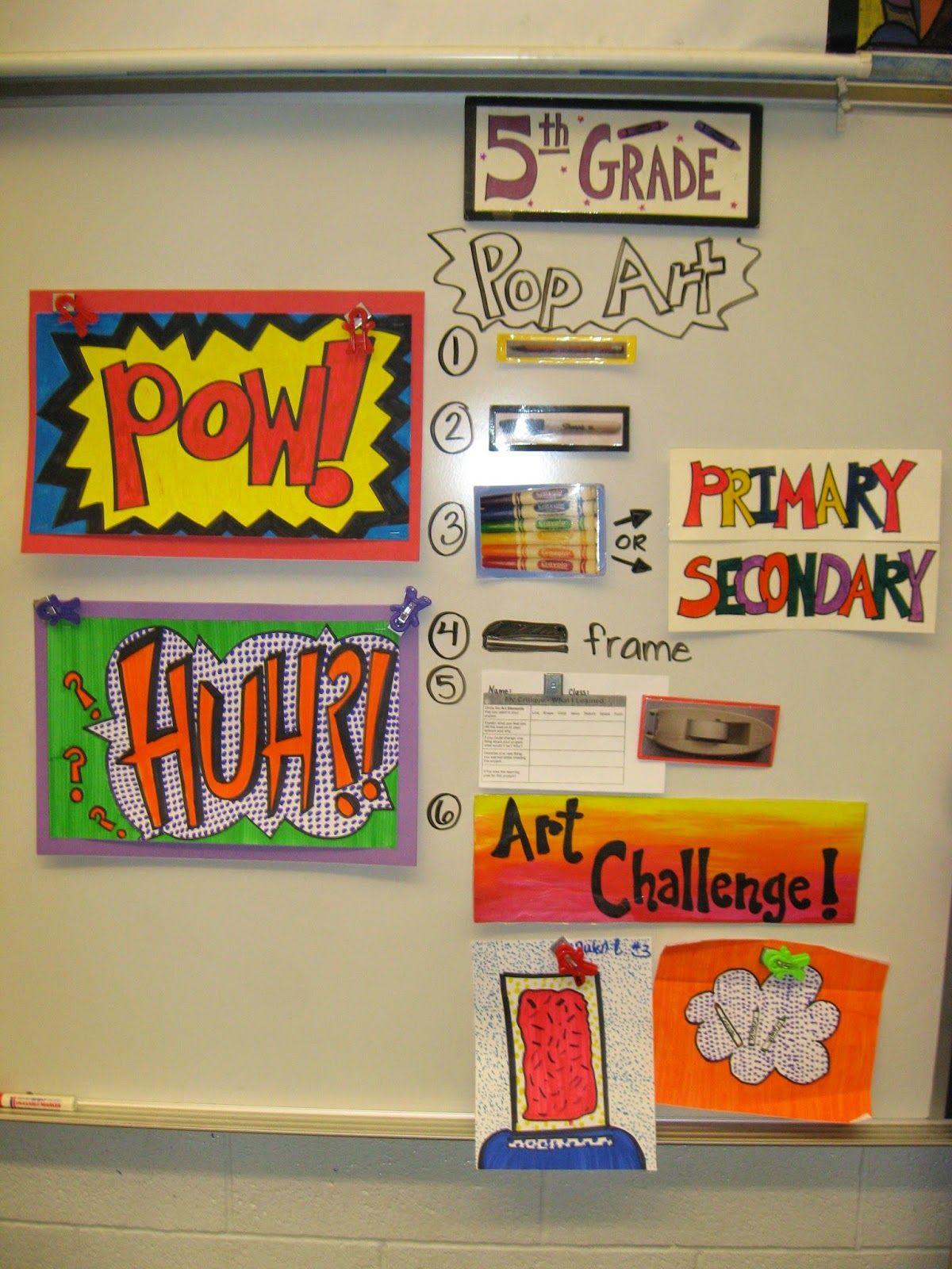 Jamestown Elementary Art Blog 5th Grade Roy Lichtenstein Pop Art Words