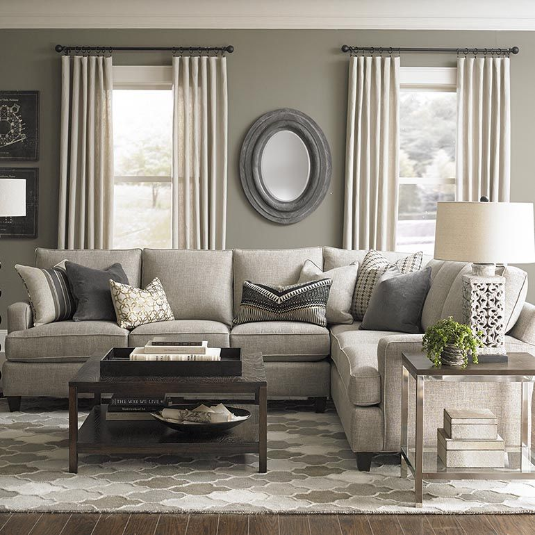 Custom Upholstery Medium L Shaped Sectional. Living Room ColorsLiving Room  IdeasGray ...