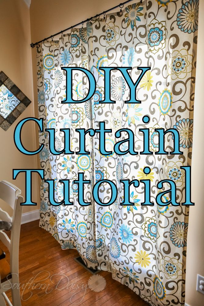 DIY Curtain Tutorial | Diy curtains, Curtain tutorial ...