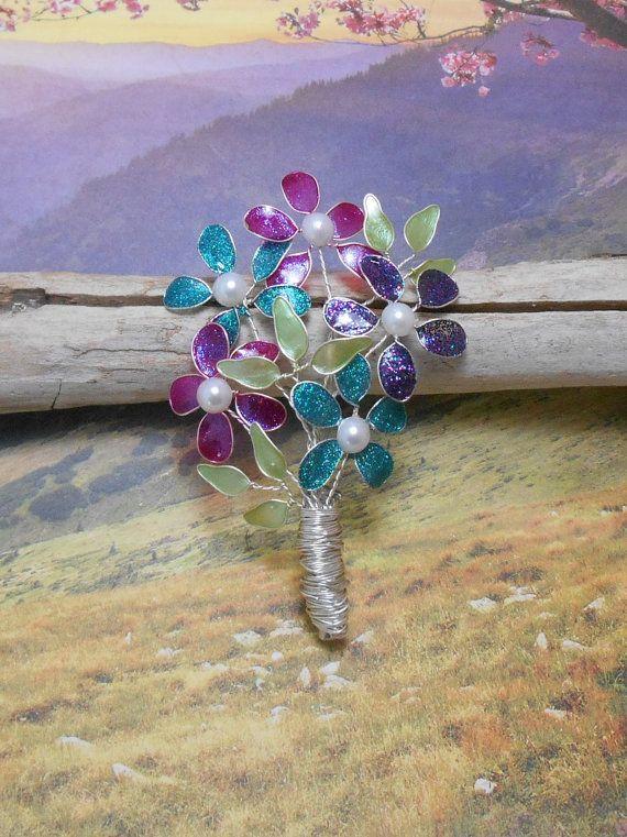 Spring Glitter Flower Bouquet Wire Flower by SpiritualPathways ...