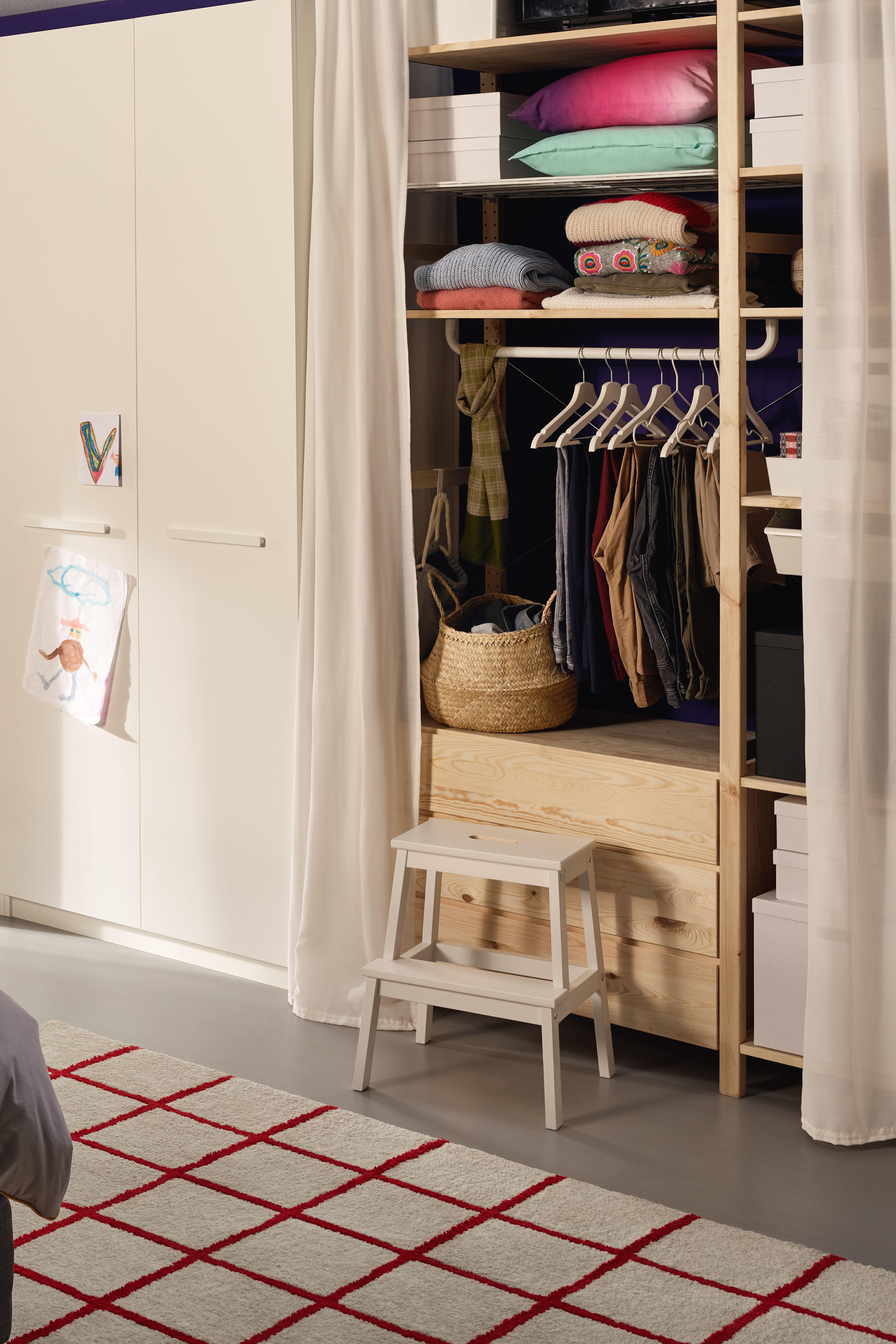 Ikea Deutschland In 2020 Ivar Regal Kleiderschrank Holz
