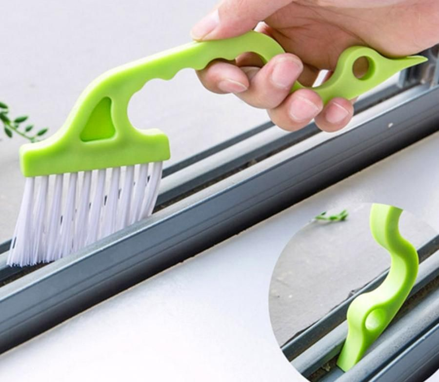 This Tiny Brush Helps You Clean Inside Window Tracks and Tight Areas