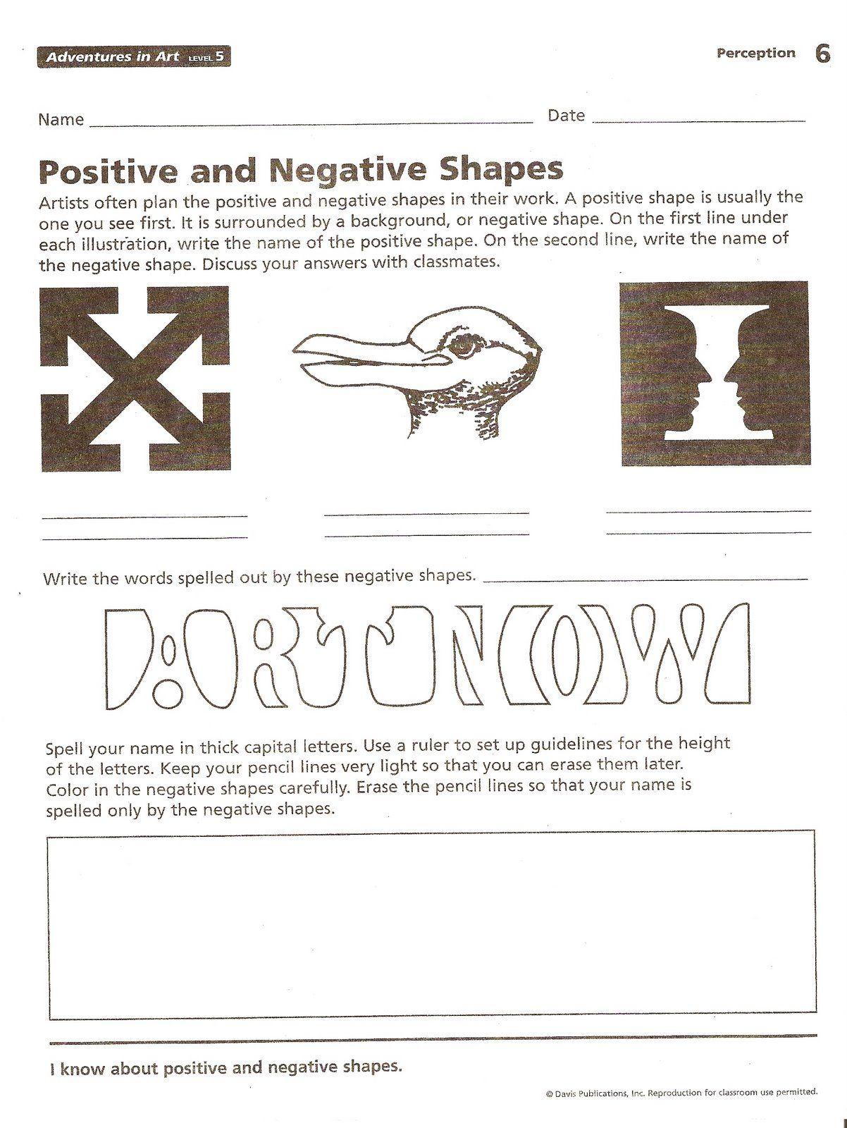 Positive negative space handout