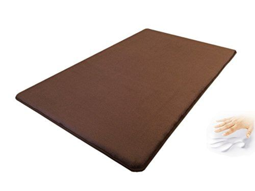 Bathroom Rugs Ideas 48x30 Microplush Fleece Brown Comfort