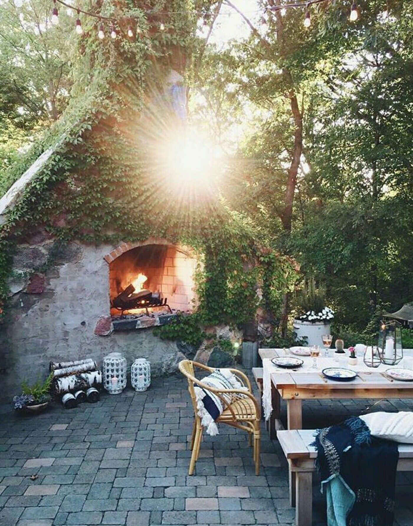 Fireplace 4 patio Home Patio Outdoor Pinterest