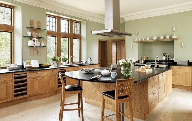 107 idées de îlot central de cuisine fonctionnel et convivial - plan de cuisine moderne avec ilot central