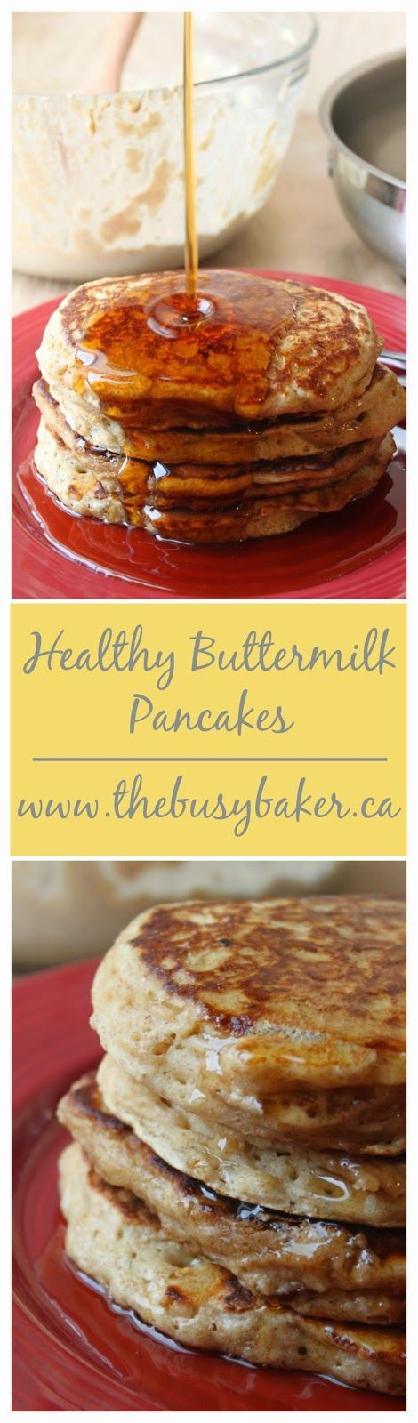 Healthy Buttermilk Pancakes Healthy Pancake Recipe Buttermilk Pancakes Pancakes Pancakes Waffles