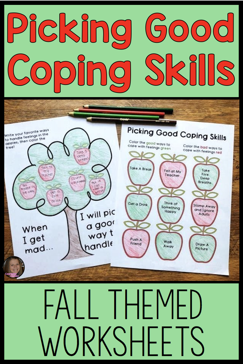 These Coping Skills Activities For Kids Include Two Worksheets To Help Students Differentiate B Coping Skills Activities Coping Skills Coping Skills Worksheets