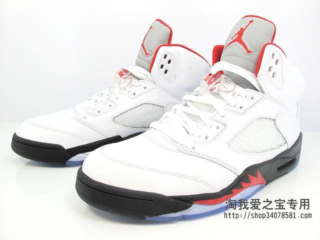 """super popular b3142 8d0b5 Air Jordan Retro V """"Fire Red"""" – New Images"""