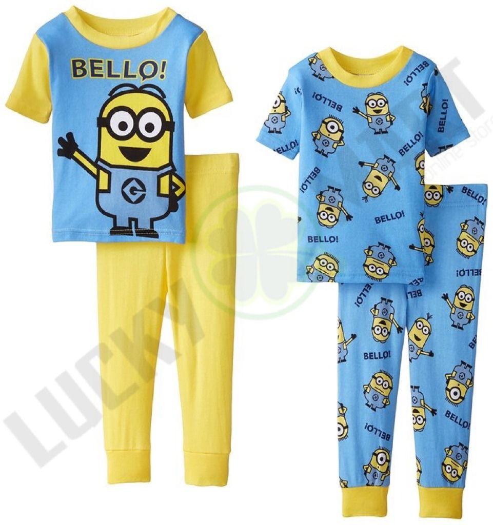 diversos estilos renombre mundial mejor baratas Set De 2 Pijamas Minions P/ Niño Manga Corta. Varias Tallas ...