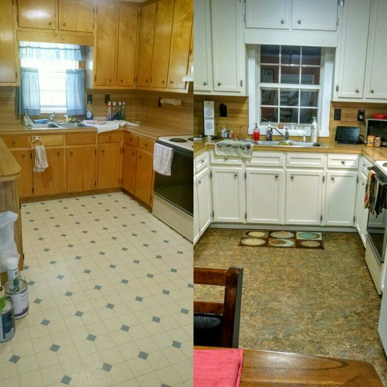 Updated my kitchen cabinets using lattice wood trim and ...
