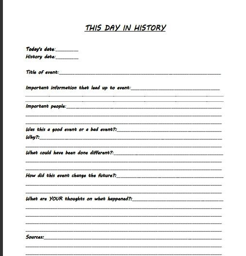 This is good template idea for a journal entry. It has great ...