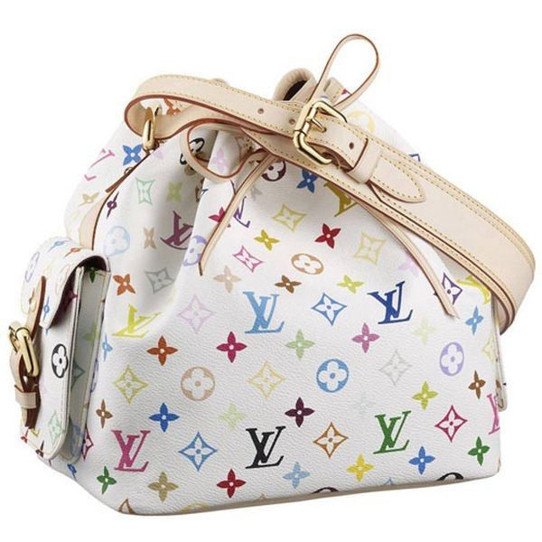 e2aff0856dad Louis Vuitton Monogram Multicolore Petit Noe M42229 Blanc