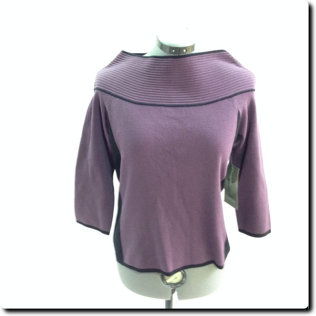 Designer Originals Purple Long Sleeve Knit Top Sweater M