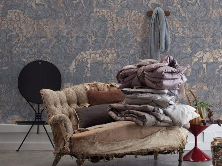 Tapete im Wohnzimmer von Inkiostro Bianco \u2013 50 attraktive Modelle - tapeten wohnzimmer