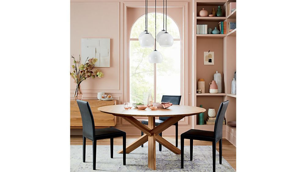 Apex White Oak Round Dining Table Crate And Barrel In 2020 Round Dining Table Dining Table White Oak Dining Table