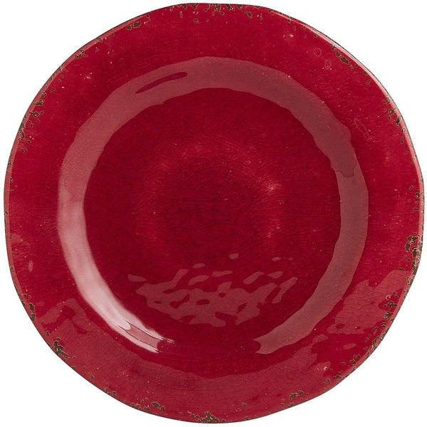 Pier 1 Imports Red Carmelo Crimson Melamine Dinner Plate ($7.95) ❤ liked on Polyvore featuring home, kitchen & dining, dinnerware, red, red melamine dinnerware, red melamine dinner plates, red dinner plates, melamine dinnerware and pier 1 imports