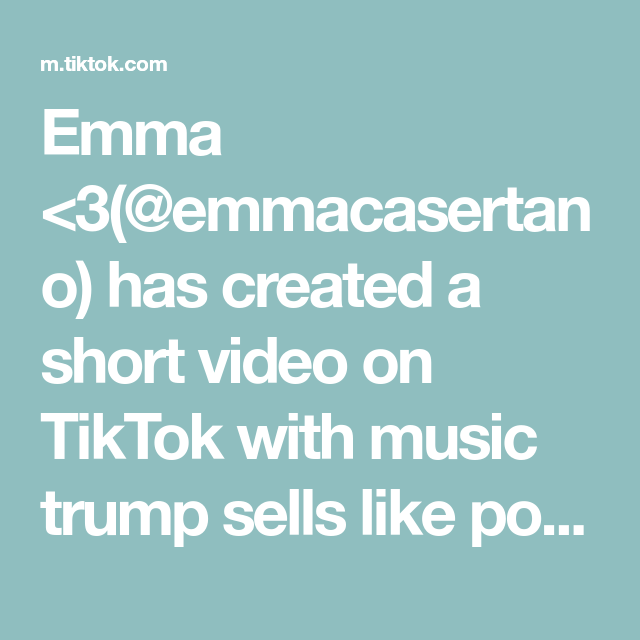 Emma 3 Emmacasertano Has Created A Short Video On Tiktok With Music Trump Sells Like Poo Poo The Transition Was Way Hair Transformation Music Hunger Games