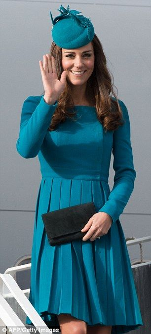 Kate wears New Zealand designer Wickstead, a favourite of British Prime Minister's wife Samantha Cameron