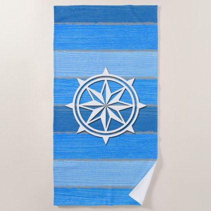 Nautical Themed Design Beach Towel Home Gifts Cool Custom Diy Cyo