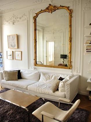 Etoile Apartment Paris Find Huge Antique French Mirrors