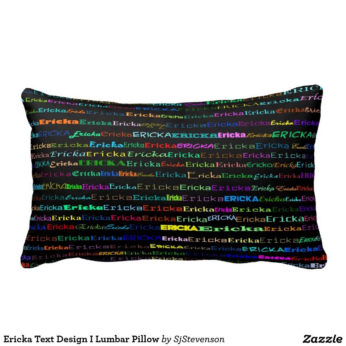 Ericka Text Design I Lumbar Pillow