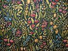 Modern Printed Velvet Floral Blue Damask Multi Colour Pattern Upholstery Fabric #velvetupholsteryfabric