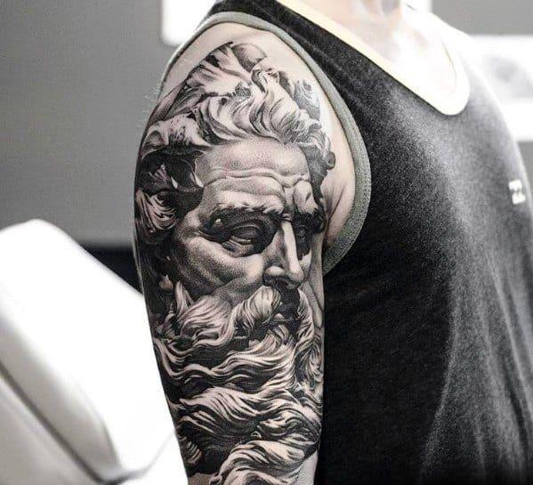 Photo of 60 Roman Statue Tattoo Designs For Men – Stone Ink Ideas