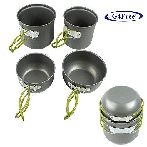 G4Free® 4pcs Outdoor Camping pan Hiking Cookware Backpacking Cooking Picnic Bowl Pot Pan Set(Green)) G4Free http://www.amazon.com/dp/B00N7EOB88/ref=cm_sw_r_pi_dp_4JjYvb016CQQN