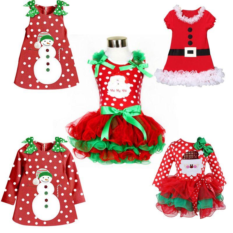 88255a67bd Barato Ano novo Primeiro Natal Traje Para As Crianças Meninas Roupas Pouco  Presente de Natal Da