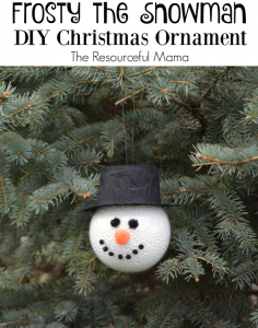 Frosty the Snowman Homemade Ornament - The Resourceful Mama