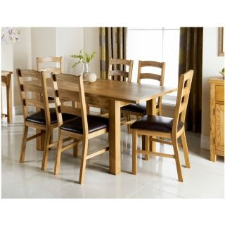284490 Wiltshire 7 Piece Oak Dining Set £400