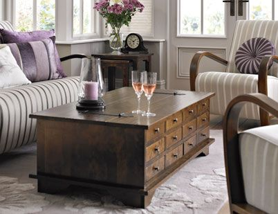 Laura Ashley Garrat Chestnut Coffee Table Ashley Furniture