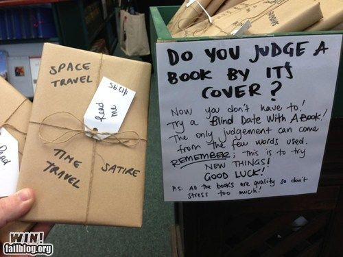 Quot Do You Judge A Book By Its Cover Quot Go On A Blind Date