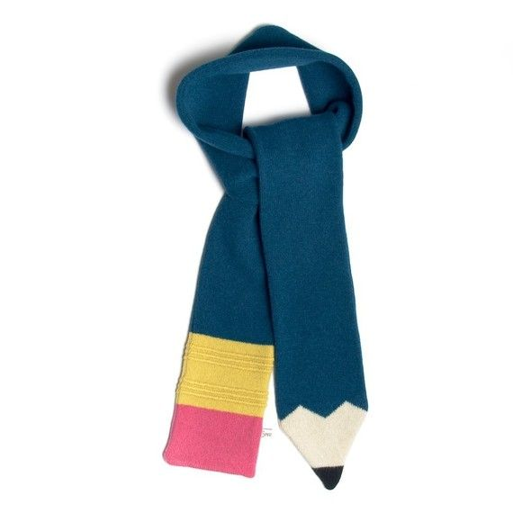 Lambswool Petrol Blue Pencil Scarf - Made to order   Pinterest ...