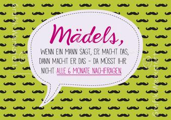 Mädels - Postkarten - Grafik Werkstatt Bielefeld | Witzige