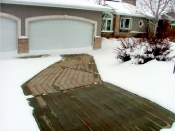 Retrofit Heated Driveway System Snow Melting And Heated