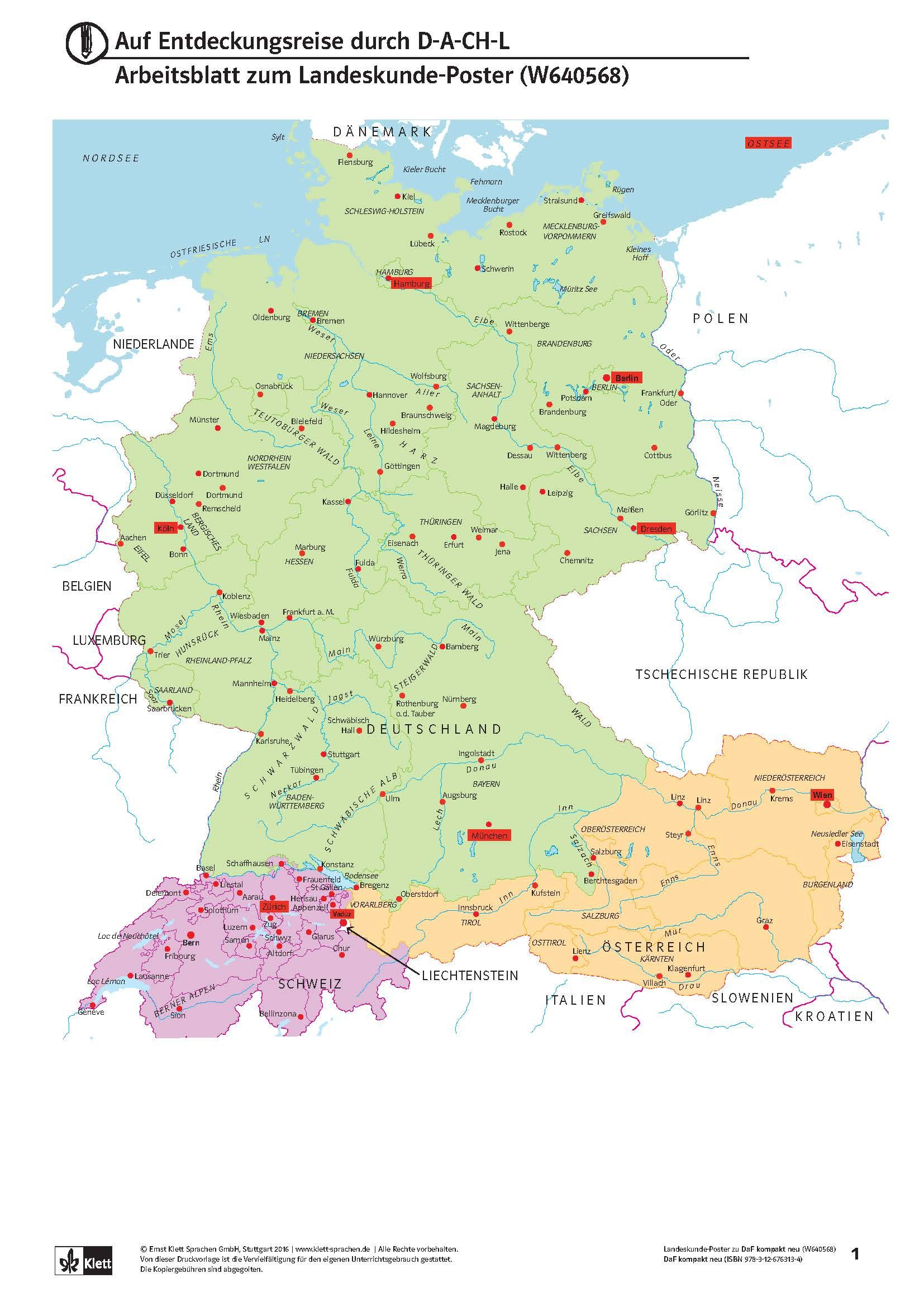 Here The A Map Of The German Speaking Countries You Can